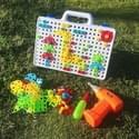 MoFun ZHIBO 598 150 PC DIY demontage schroef moer elektrische boor puzzel educatief speelgoed met moer elektrische