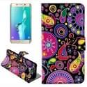 Kleur Acaleph patroon horizontaal Flip lederen hoesje met opbergruimte voor pinpassen & portemonnee & houder voor Samsung Galaxy S6 Edge Plus / G9280