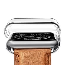 Voor Apple Watch serie 3 38 mm transparant PC beschermhoes