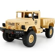 WPL B-14 1:16 Mini 2.4G RC Crawler van 4WD Off Road auto met licht RTR(Yellow)