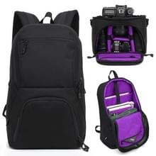 HUWANG 2 in 1 Waterproof Anti-theft Outdoor Dual Shoulders Backpack + Shockproof Camera Case Bag(Purple)