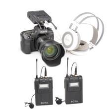 BOYA door-WM8 Dual-Channel 48CH Draadloos UHF microfoon systeem met zender en ontvanger voor DSLR camera's en Video Cameras(Black)