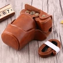 Full Body Camera PU Leather Case Bag with Strap for Canon EOS M3 (Brown)