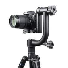 YELANGU 360 graden horizontaal draaibaar Gimbal Tripod Statief Hoofd voor DSLR en DV Camera (zwart)