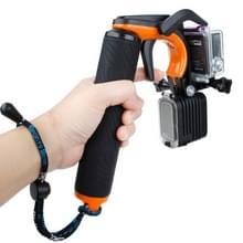 Drijvende handgreep van TMC HR391 Shutter Trigger / duiken surfen drijfvermogen Stick met instelbare anti-verloren hand riem voor GoPro HERO4 /3+ /3, Xiaomi Xiaoyi Sport Camera(Oranje)