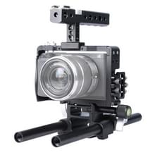 YELANGU YLG0905A Handle Video Camera Cage Steadicam Stabilizer for Sony A6000/A6300/A6500(Black)