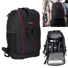 CADEN K6 grote Capaciteit Tscope slinger Cross Digitale Camera schoudertassen hoesje reizen rugzak voor Canon Nikon Sony Afmeting: 43 * 28 * 16 cm (zwart)
