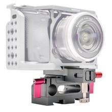 WARAXE 2631 Rig baseren plaat met Arca stijl Zwaluwstaart klem voor Sony GH4 / GH5 /A7 / A6 Camera kooi  15 mm Rod gat