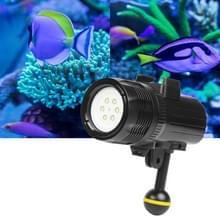1500 lumen 60m onderwater duiken LED Torch licht heldere Video Lamp voor GoPro HERO7/6 /5 /5 sessie /4 sessie /4 /3+/3 /2 /1  Xiaoyi en andere actie camera's (zwart)