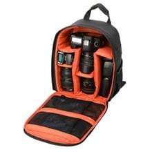 DL-B028 Waterbestendige Buitensport Backpack Rugtas DSLR Camera Tas voor GoPro, SJCAM, Nikon, Canon, Xiaomi Xiaoyi YI, Afmetingen: 27.5 x 12.5 x 34 cm (Oranje)