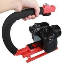 YELANGU S2-3 YLG0106B-C C-Vormige Video Handgreep Stabilisator voor DSLR DV Camera (rood)
