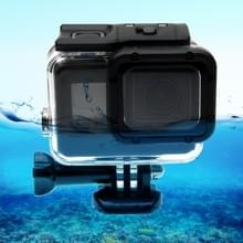 For GoPro HERO6 /5  30m Waterproof Housing Protective Case + Hollow Back Cover with Buckle Basic Mount & Screw  No Need to Disassemble Lens