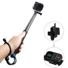 Handheld Aluminium Extendable Pole Monopod met schroeven & Strap & Remote Control Buckle voor GoPro HERO5 /4 /3+ /3 /2 /1, Xiaoyi Sport Cameras, Adjustment Length: 36-110cm (blauw)
