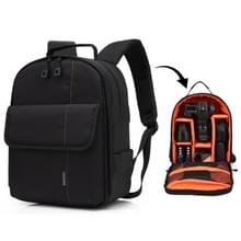 HUWANG Portable Waterproof Scratch-proof Polyester Surface Material Dual Shoulders Backpack Outdoor Sports Camera Bag (Orange)