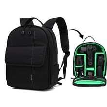 HUWANG Portable Waterproof Scratch-proof Polyester Surface Material Dual Shoulders Backpack Outdoor Sports Camera Bag (Green)