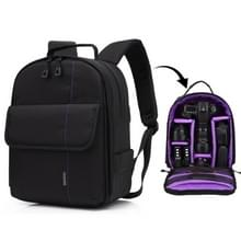 HUWANG Portable Waterproof Scratch-proof Polyester Surface Material Dual Shoulders Backpack Outdoor Sports Camera Bag (Purple)