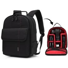 HUWANG Portable Waterproof Scratch-proof Polyester Surface Material Dual Shoulders Backpack Outdoor Sports Camera Bag (Red)