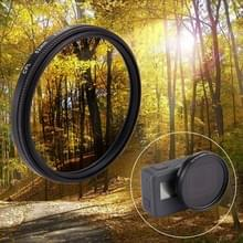 52mm 3 in 1 Round Circle CPL Lens Filter with Cap for GoPro HERO5