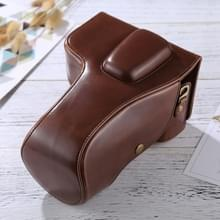 Full Body Camera PU Leather Case Bag for Nikon D5300 / D5200 / D5100 (18-55mm / 18-105mm / 18-140mm Lens) (Coffee)