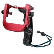 TMC P4 Trigger Handheld Grip CNC metalen Stick Monopod Mount voor GoPro HERO4 /3+(rood)