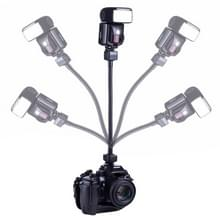 Flexibele Roterende Arm Flitser LED lamp TTL Handgreep Houder voor Nikon