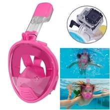 Kinderen duiken apparatuur volledige gezicht ontwerp Snorkel masker voor GoPro  GoPro HERO 7 / 6 / 5 / 5 session / 4 session / 4 / 3+/ 3 / 2 / 1  Xiaoyi en andere actie-Cameras(Pink)
