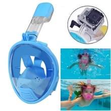 Kinderen duiken apparatuur volledige gezicht ontwerp Snorkel masker voor GoPro  GoPro HERO 7 / 6 / 5 / 5 session / 4 session / 4 / 3+/ 3 / 2 / 1  Xiaoyi en andere actie-Cameras(Blue)