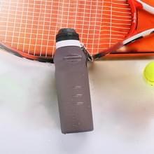 Outdoor reizen creatieve kleur veranderende temperatuur Sensor siliconen vouwen waterfles Cup  capaciteit: 600ml  willekeurige kleur levering