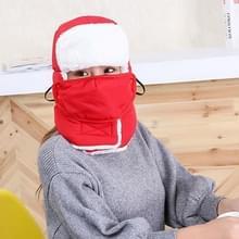 Winter Unisex dik en pluche Warm oor bescherming LeiFeng hoeden  buiten fiets winddicht Winter Ski Mask Hat(Red)