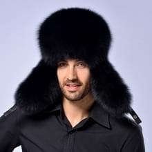 Winter nieuwe stijl Fox haar LeiFeng mannen hoeden  dikke warme midden en oude mensen oor bescherming Winter bont Hat(Black)