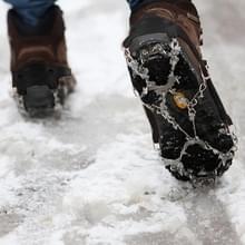 Één paar 19 tanden antislip ijs Gripper Wandelen klimmen ketting schoenen Covers(Black)