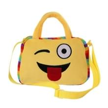 Portable mooie gezichten Square Shape pluche pop rugzak, schoudertas van kleuterschool kinderen