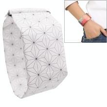 Witte kubus patroon creatieve Fashion waterdichte papier Watch intelligente papier elektronische polshorloge