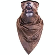 Multifunctionele buiten winddicht driehoek handdoek dierlijke masker Hood