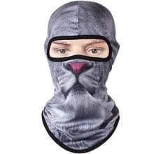 Multifunctionele buiten winddicht dier patroon ademend sneldrogende masker Hood