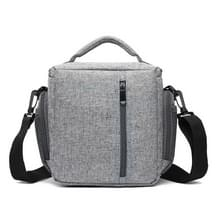 HUWANG Portable Waterproof Nylon Surface Material Outdoor Sports Sling Shoulder Bag for DSLR Cameras  Size: 23cm x 11cm x 23cm(Grey)