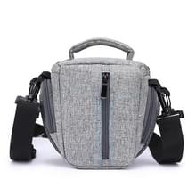 HUWANG Portable Waterproof Nylon Surface Material Outdoor Sports Sling Shoulder Bag for DSLR Cameras  Size: 20cm x 17cm x 9cm(Grey)