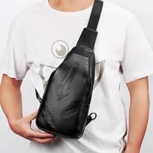 LEINASEN Fashion slijtvaste multifunctionele zakken één schoudertas borst Front tas voor Man (zwart)