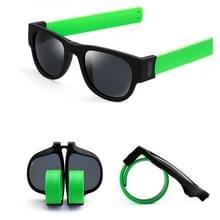 Nieuwe mode Crimp opklapbare spiegel knalt gepolariseerde zonnebril Casual UV400 bescherming bril voor mannen / Women(Green)