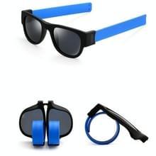 Nieuwe mode Crimp opklapbare spiegel knalt gepolariseerde zonnebril Casual UV400 bescherming bril voor mannen / Women(Blue)