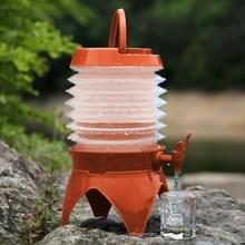 Multi-functioneel Outdoor Camping telescopische vouwen intrekbare bier Water opslag emmer drinkwater buiten Tools  capaciteit: 5L(Orange)