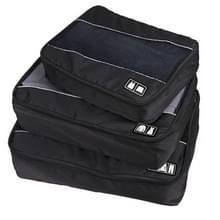 3 stuks / multifunctionele voetbal textuur 210 D Polyester waterdichte reizen kleding ondergoed opslag Bag(Black) Sets