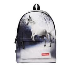 Dier paardrijden patroon Print reizen rugzak School schouders tas  formaat: 40 x 30 cm x 17 cm