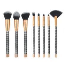 8 in 1 honingraat handvat multifunctionele make-up borstel  zwart handvat en zwarte borstel