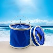 KANEED 11 Liter/2.9 Gallon Oxford doek schaalbare opvouwbare handige Water emmer voor Camping/auto wassen / vissen/wandelen/strand willekeurige kleur Delivery(Blue)