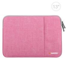 HAWEEL 13.0 inch mouw geval rits werkmap uitvoering laptoptas  voor Macbook  Samsung  Lenovo  Sony  DELL Alienware  CHUWI  ASUS  HP  13 inch en onder Laptops(Pink)