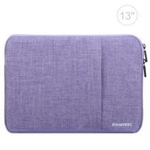 HAWEEL 13.0 inch mouw geval rits werkmap uitvoering laptoptas  voor Macbook  Samsung  Lenovo  Sony  DELL Alienware  CHUWI  ASUS  HP  13 inch en onder Laptops(Purple)