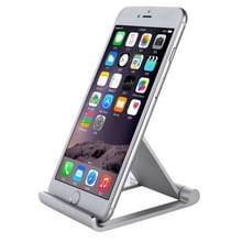 IPS-Z26 universeel aluminiumlegering opvouwbare instelbare houder Stand voor iPhone  Samsung  Lenovo  Sony  LG  HTC en andere Smartphones (zilver)