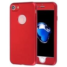Voor iPhone 8 & 7 360 graden volledige bescherming zachte TPU backcover + PC Front combinatie Case(Red)