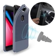 DUX DUCIS MOJO serie Shockproof magnetische koolstofvezel TPU Case voor iPhone 8 Plus & 7 Plus(Blue)
